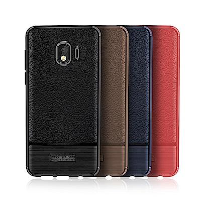 VXTRA 三星 Samsung Galaxy J4 防滑手感皮紋 軟性手機殼
