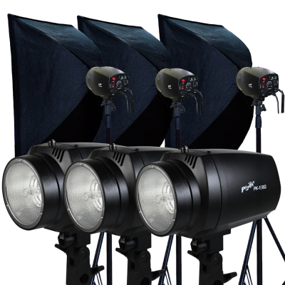 Piyet專業攝影棚三燈組合(PK150G)