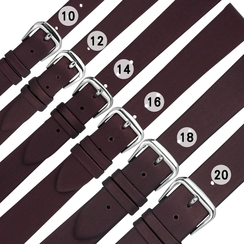 Watchband / 各品牌通用柔軟真皮錶帶-酒紅色