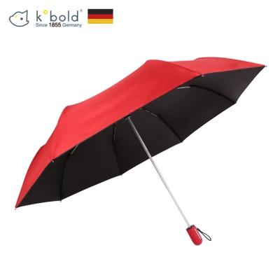 德國kobold酷波德 抗UV粉紅女王系列-矽膠蜂巢-按摩手把-遮陽防曬三折傘-女王紅