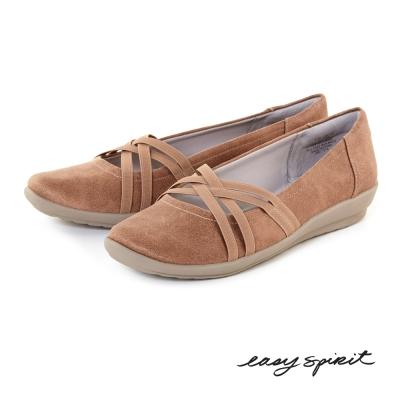 Easy-Spirit-輕盈舒適交叉休閒鞋-大地駝