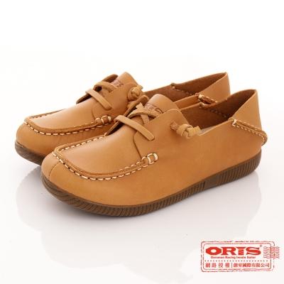 ORIS 女款 真皮 舒適 超柔軟 休閒懶人鞋~ 棕SA17682N05