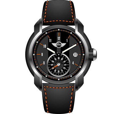 MINI Swiss Watches  簡約休閒腕錶-黑x灰/45mm