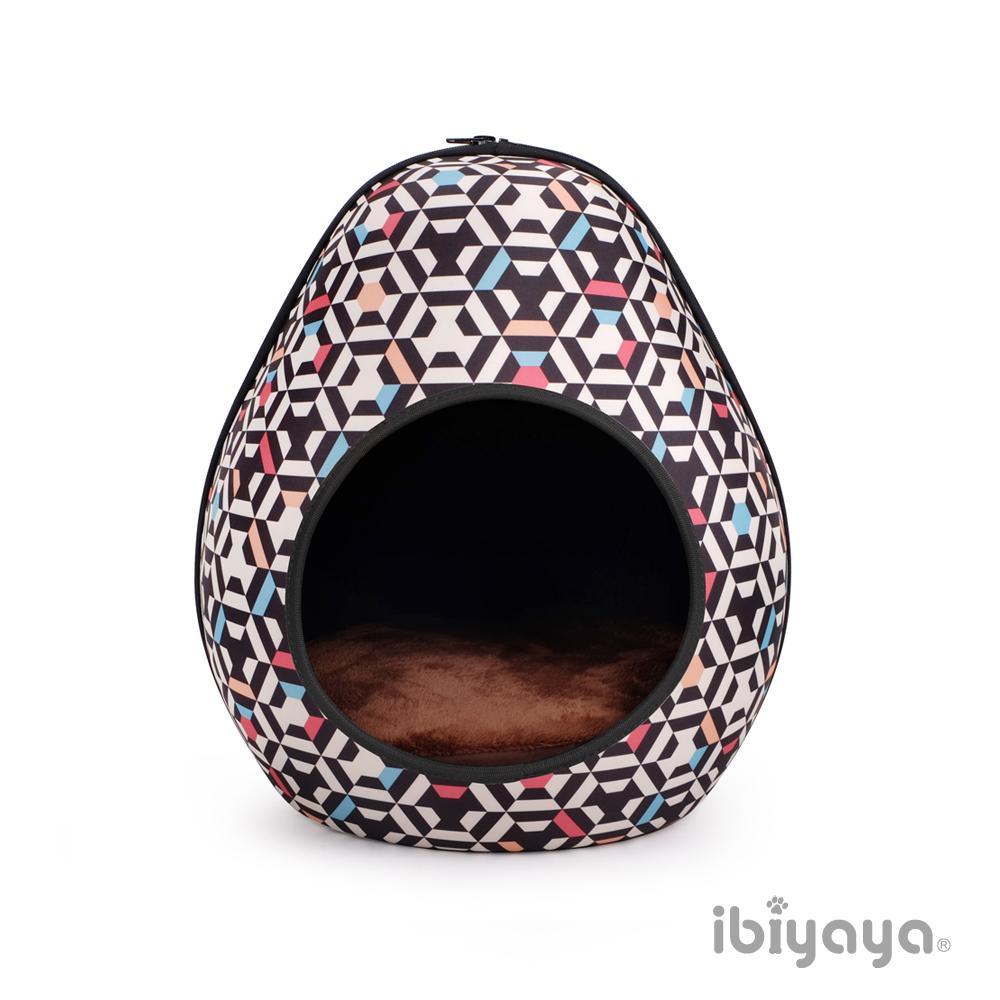 IBIYAYA依比呀呀-FB1412 摩登恐龍蛋寵物窩-幾何黑