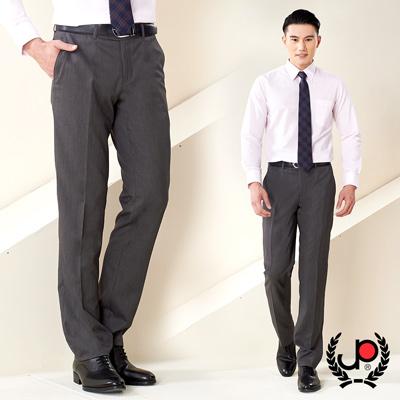 極品西服-優質仿毛底條紋平面西褲_深灰底條紋(Z86BW008)