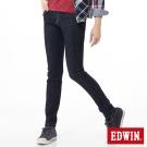 EDWIN 窄直筒 EDGE牛仔褲-女-原藍色