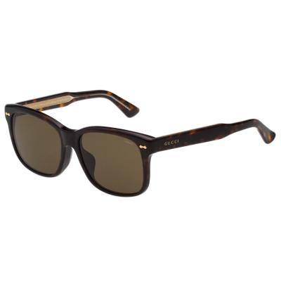 GUCCI~ 簡約中性 太陽眼鏡  琥珀色