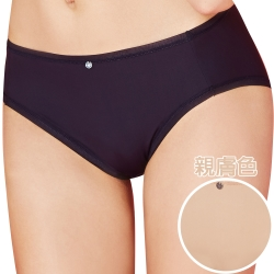 思薇爾 嗨Q Bra系列M-XXL素面中腰三角褲(親膚色)