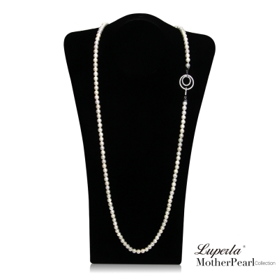 大東山珠寶 7mm南洋貝寶珠長鍊 第一夫人系列多層次變化款經典白