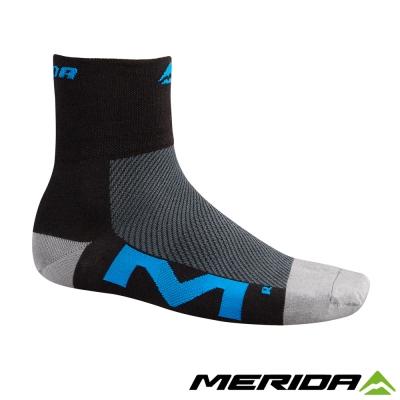 《MERIDA》美利達自行車Coolmax襪子-黑/藍