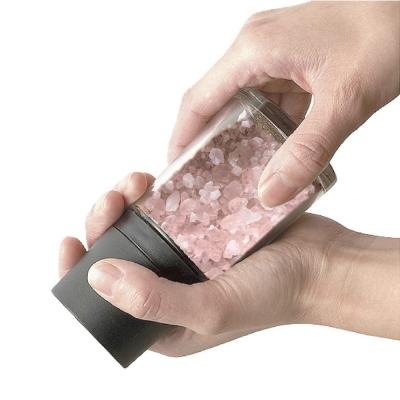 日本ASVEL 陶瓷刀刃140ml岩鹽研磨玻璃罐(黑色)