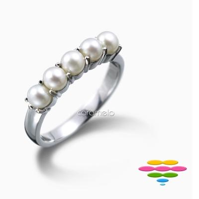 彩糖鑽工坊 旖旎系列 日本海水珍珠戒指排戒