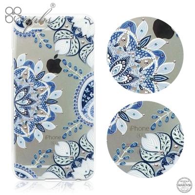 apbs iPhone6s/6 Plus 5.5吋 施華洛世奇彩鑽手機殼-青花瓷...