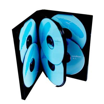 DigiStone-六片裝光碟片精裝優質軟盒-黑色-15片