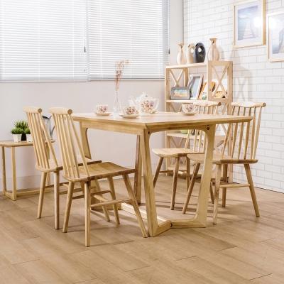 Jiachu 佳櫥世界-Fran芙嵐實木餐桌椅組/二色-寬150x深80x高76公分