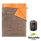 Naturehike 四季通用 加大加厚雙人帶枕睡袋 杏灰-急