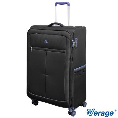 Verage 維麗杰 28吋 超輕量經典格紋環保旅行箱三代(黑)