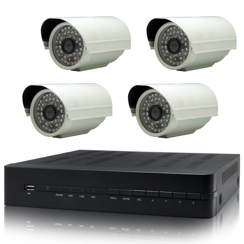 奇巧 4路AHD 720P高清遠端監控套組(含SONY 48燈 130萬攝影機x4)
