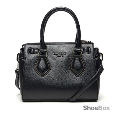 鞋櫃ShoeBox-女包-斜背包-菱形手提扣波士頓包-黑