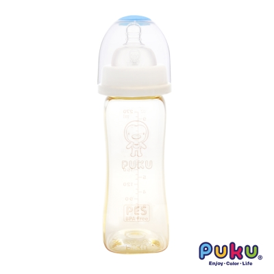 PUKU實感寬口PES方型奶瓶-270ml