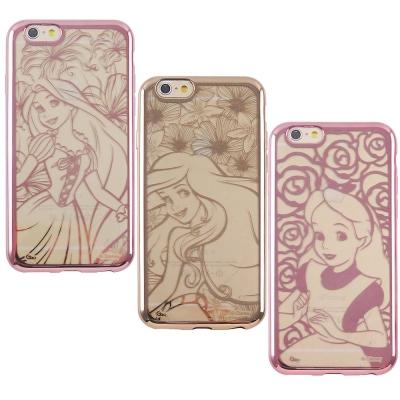 Disney迪士尼iPhone6/6S Plus時尚質感電鍍保護套-公主系列