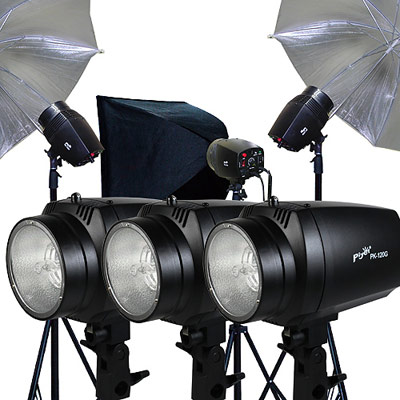 Piyet  專業攝影棚三燈組合 ( PK120G )