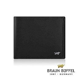 BRAUN BUFFEL -ANDRO 安卓系列4卡零錢袋皮夾 - 太空黑