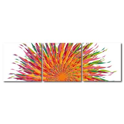 123點點貼- 三聯式無痕創意壁貼 -豔陽厲色30*30cm