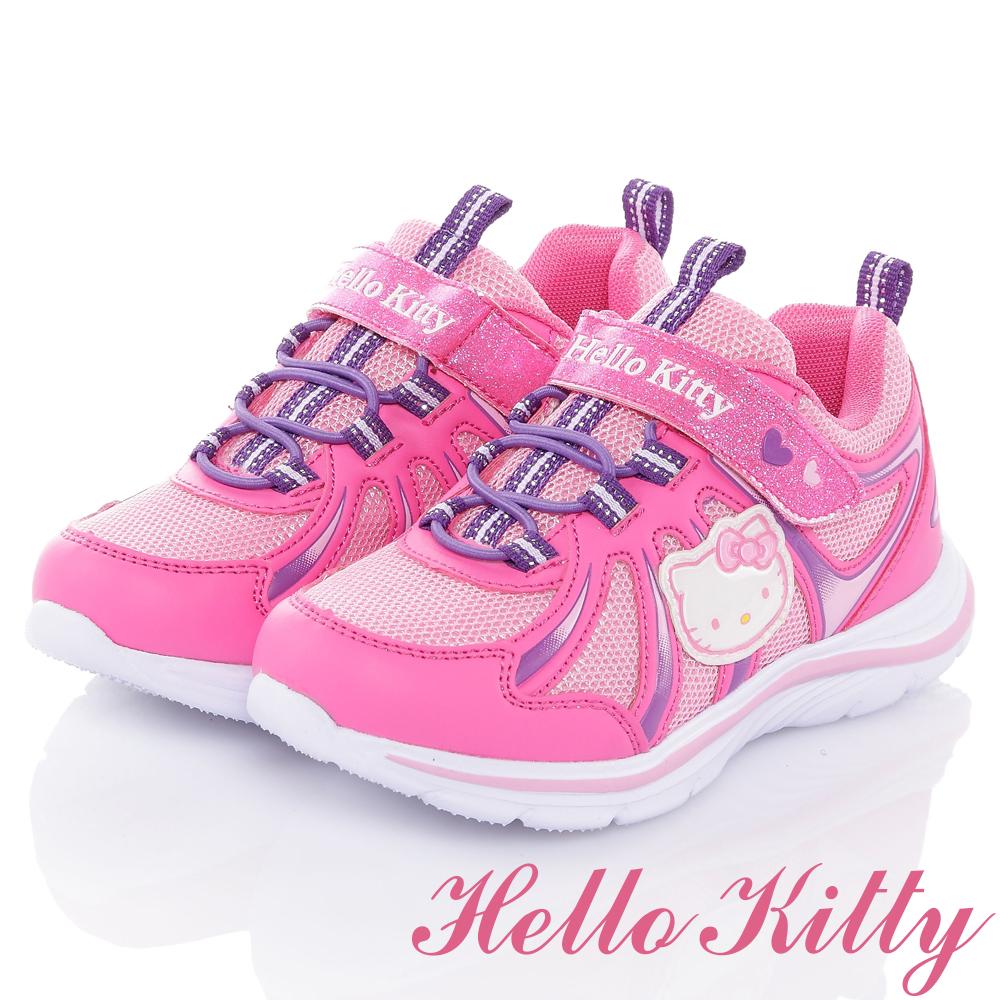 HelloKitty 舒適透氣抗菌防臭防滑休閒童鞋-桃