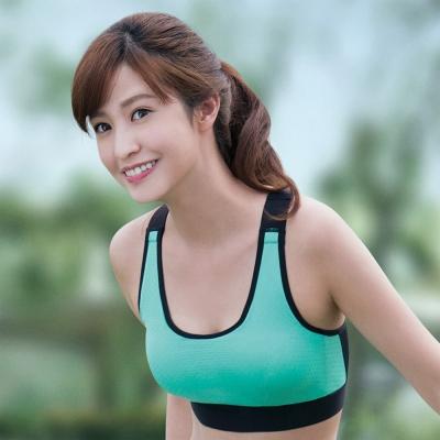 華歌爾 輕運動 5星級防護 D罩杯M-3L 運動內衣(陽光綠)