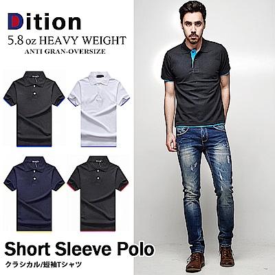 DITION 職人拼接雙色POLO衫 多尺寸情侶款 紳士休閒