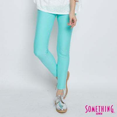 SOMETHING 誘人自信 LADIVA提臀窄直筒褲-女-青綠色