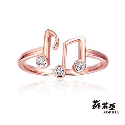 蘇菲亞SOPHIA - 愛的樂章0.07克拉玫瑰金鑽石戒指