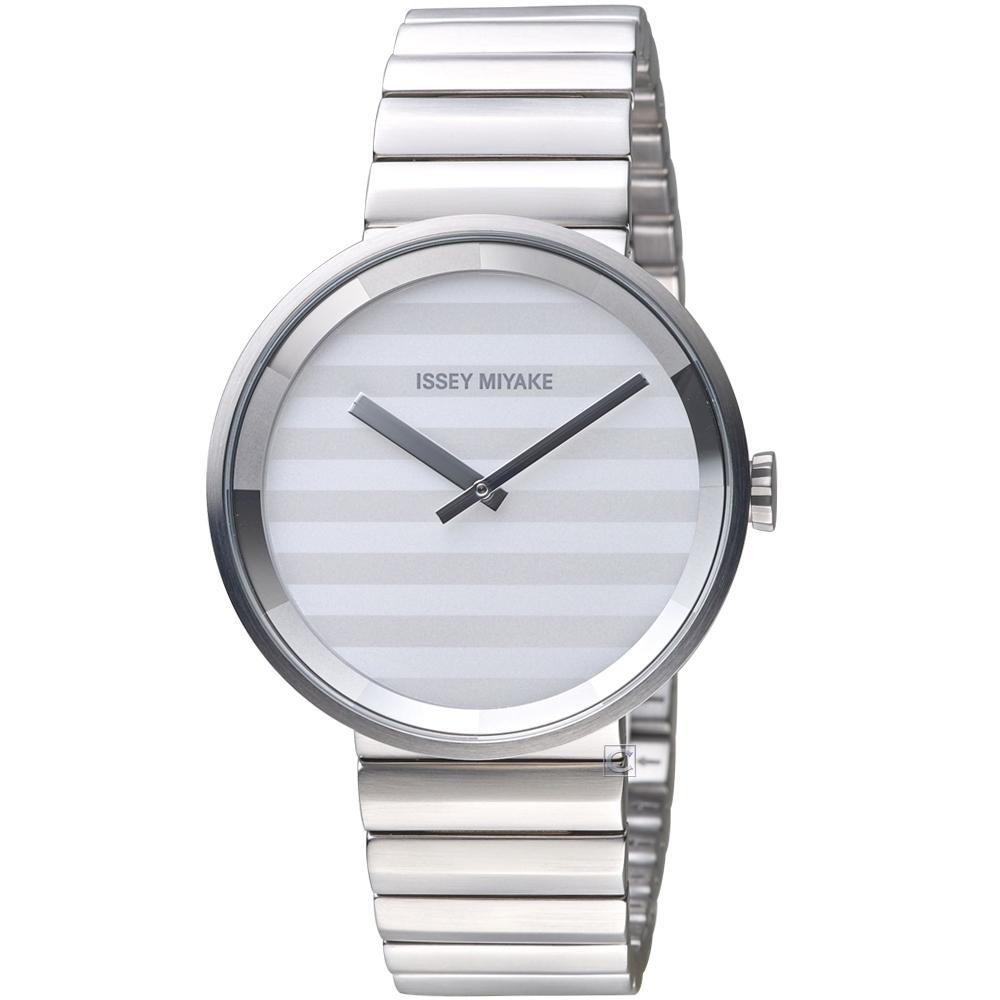 ISSEY MIYAKE三宅一生PLEASE系列波紋概念腕錶( VJ20-0110S)