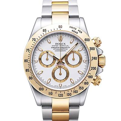 ROLEX 勞力士 Daytona 116503 新款計時半金白面腕錶x40mm