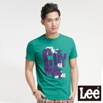 Lee-Surf-N-Roll-浪花夏日-植絨短袖T恤-男款-綠