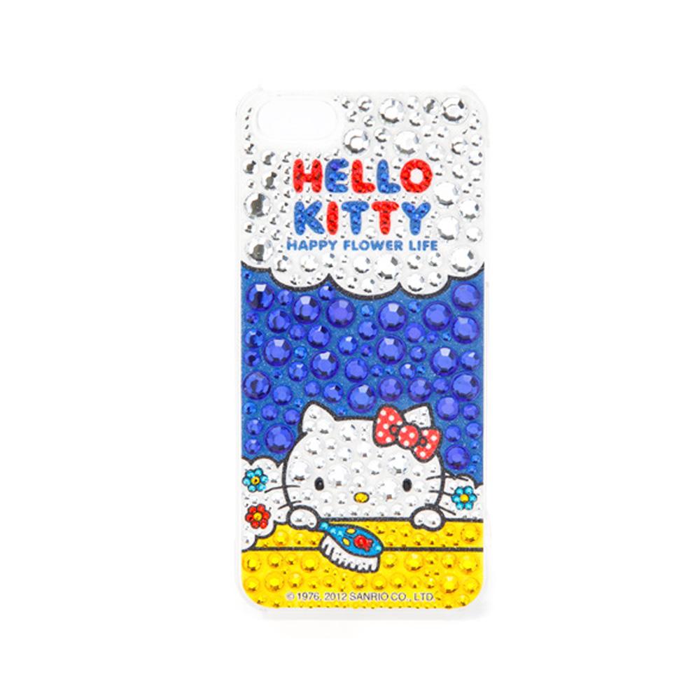 《Sanrio》HELLO KITTY寶石裝飾 iPhone5保護殼(沐浴泡泡)