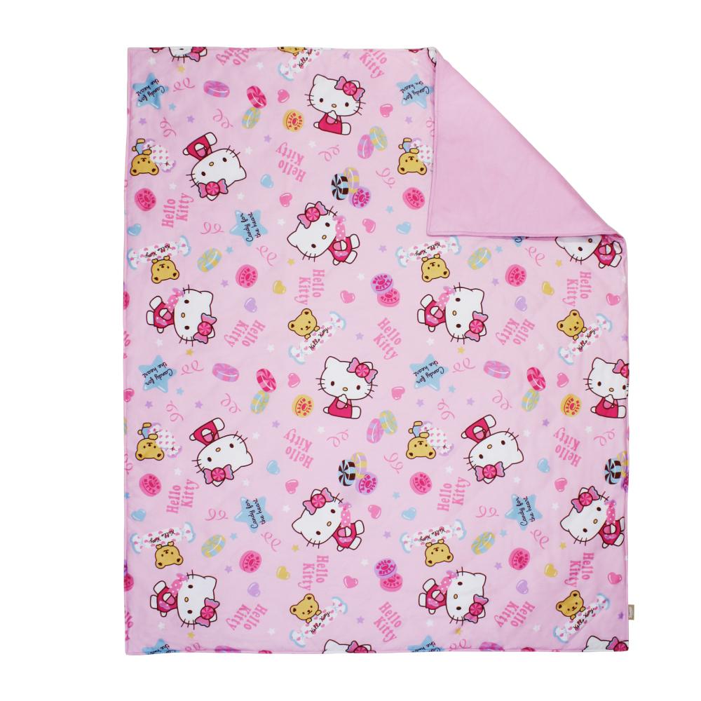 鴻宇HongYew 日本抗菌100%精梳棉Hello Kitty甜蜜夥伴 粉 兒童涼被