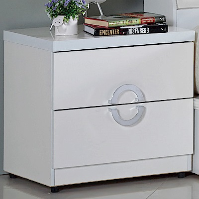 品家居 德亞莉1.6尺二抽床頭櫃-48x41x48cm-免組