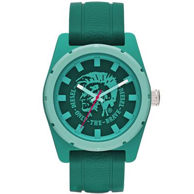 DIESEL 英勇騎兵時尚運動腕錶-綠色/46mm