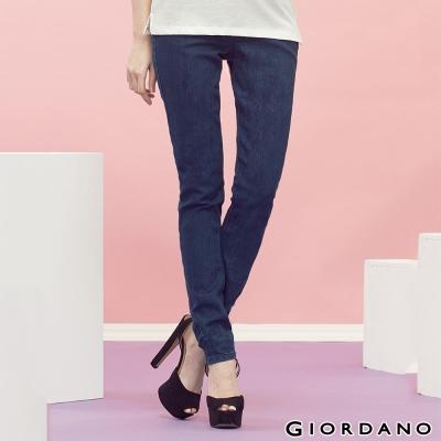 GIORDANO-女裝中腰鬆緊褲頭修身窄管褲-76