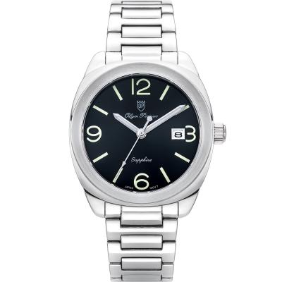 奧柏表 Olym Pianus 聚焦經典石英腕錶-黑  5706MS