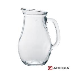 【ADERIA】日本進口把手玻璃水瓶1L