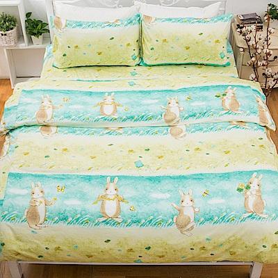 kokomos扣扣馬 鎮瀾宮大甲媽 精梳棉205織紗新式兩用被雙人床包組 兔子湯姆