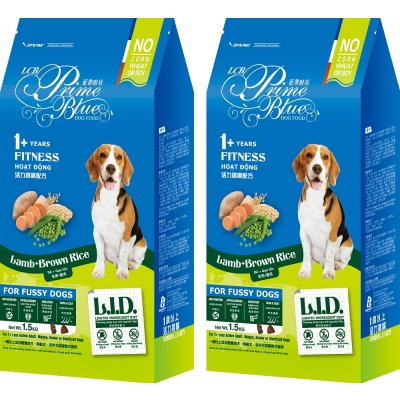 LCB藍帶廚坊 L.I.D.挑嘴狗糧 活力犬 1.5KGx2包 羊肉糙米配方