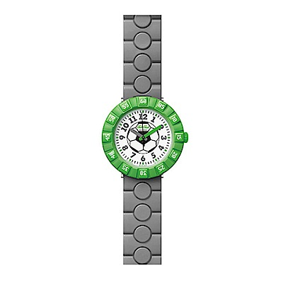 FlikFlak 兒童錶 HAT-TRICK 足球時光手錶