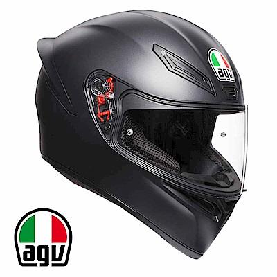 AGV K1 全罩安全帽 消光黑素色 台灣公司貨 亞洲頭型