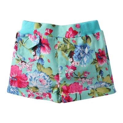 baby童衣-女童短褲-螺紋花朵反摺休閒褲-522