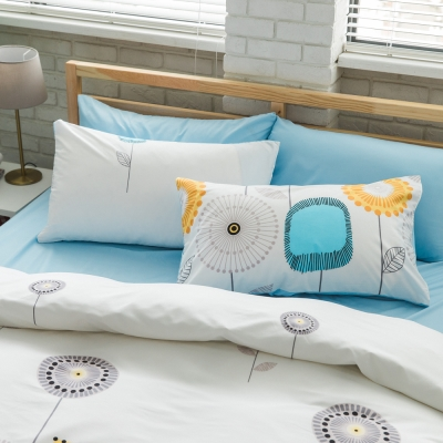 美夢元素 台製天鵝絨-枕套床包三件式-雙人加大 (花趣)
