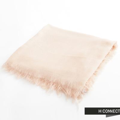 H-CONNECT-韓國品牌-女裝-柔紡流蘇絲巾-杏